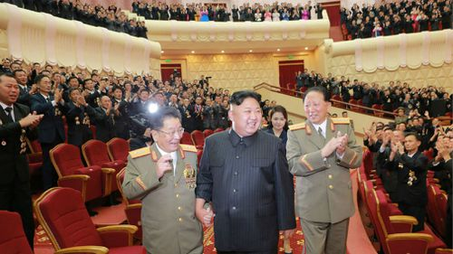 """Kim Jong-un celebrated the """"perfect success"""" of the country's sixth nuclear test. (AFP)"""