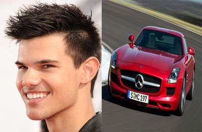 Taylor Lautner spent US$200 000 on one of the hhhhottest cars on the market - a silver 2012 Mercedes SLS AMG.