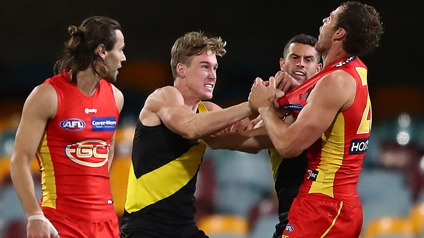 Richmond's Tom Lynch fined for striking, labelled a 'goose' by David Schwarz