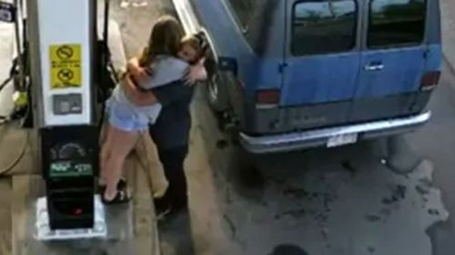 Chynna Deese and Lucas Fowler were murdered soon after this CCTV showed them embracing at a petrol station.