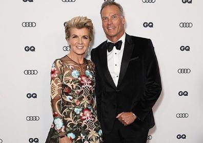 Julie Bishop with her partner David Panton.
