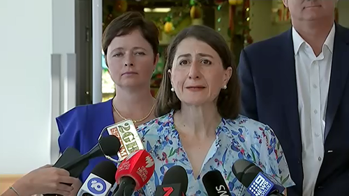 "NSW Premier Gladys Berejiklian blamed the train stuff up on ""freak"" weather and said there are no plans to offer refunds to frustrated commuters."