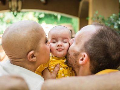 Jessica and husband Alec and their daughter Regina.