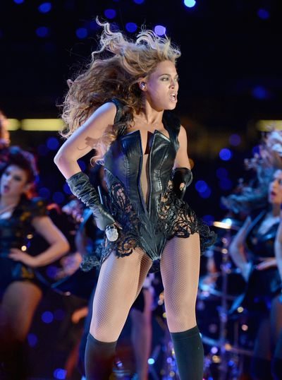 <p>2013: Beyonc&eacute;&rsquo;s half-time show at the 2013 Super Bowl propelled her into the stratosphere of stars, demonstrating her commitment to performance and style.</p> <p>For this bodysuit Beyonc&eacute; tapped little-known designer Rubin Singer.</p> <p>&ldquo;This piece is truly couture in every way,&rdquo; Singer, told The Hollywood Reporter. </p> <p>&ldquo;My seamstresses were assembling all of the leather and exotic skins individually by hand. All of the pieces were separate details that were all constructed on her body. We had to make the bodysuit have a tremendous range of motion and flexibility. Beyonc&eacute; is such a fierce and intense performer, we could not have the outfit constrict her in any way.&rdquo;</p>