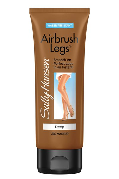 "<a href=""http://au.sallyhansen.com/skin-body/airbrush-legs/airbrush-legs-lotion"" target=""_blank"">Airbrush Legs Makeup (available in four shades), $26.95, Sally Hansen</a>"
