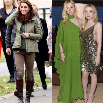Kate Middleton and Elle and Dakota Fanning
