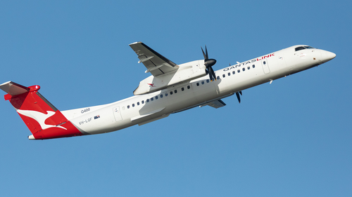 Qantas Dash-8 private charter flight
