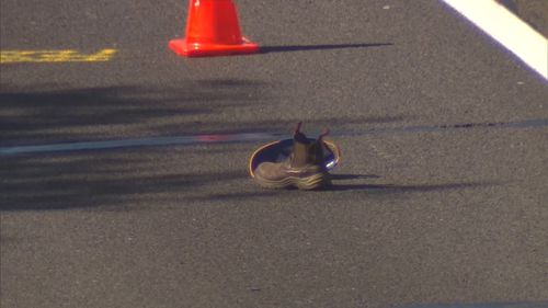 The man died at the scene, while the young driver involved was taken to hospital for medical checks. Picture: 9NEWS.
