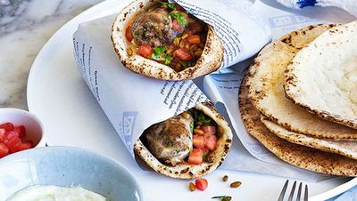 "Recipe: <a href=""http://kitchen.nine.com.au/2016/05/16/17/52/george-calombaris-sheftalies-cypriot-souvlaki"" target=""_top"">George Calombaris: Sheftalies (Cypriot souvlaki)</a>"