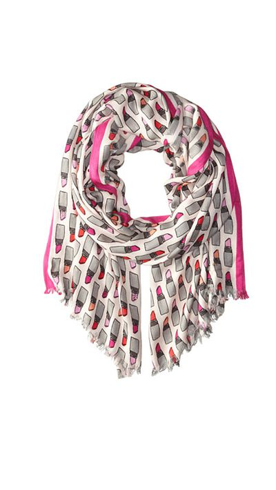 "<p><a href=""http://www.shopbop.com/embellished-lipstick-scarf-kate-spade/vp/v=1/1509936537.htm?fm=search-viewall-shopbysize&amp;os=false"" target=""_blank"">Embellished Lipstick Scarf, $102, Kate Spade New York at shopbop.com</a></p>"