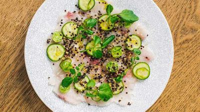 "Recipe: <a href=""http://kitchen.nine.com.au/2017/08/04/15/49/song-kitchens-kingfish-ceviche"" target=""_top"">Song Kitchen's kingfish ceviche</a>"