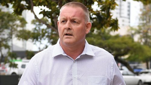 Dreamworld maintenance supervisor Mark Watkins leaves the inquest into the deaths of four people on the Thunder River Rapids Ride.