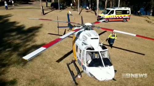 Careflight crews rushed Lily to hospital in a critical condition.