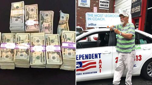 Boston taxi driver Raymond MacCausland, 72, returned $249,269 found in the back of his taxi after its owner unexpectedly vanished. (bdpnews.com/Independent Taxi Operator's Association)