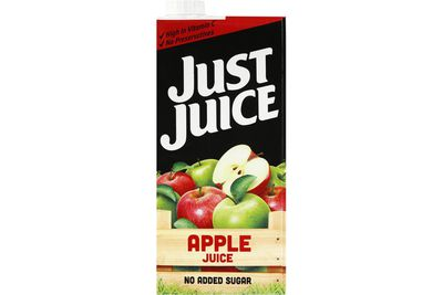 Just Juice apple juice: 20.2g sugar per 200ml serve