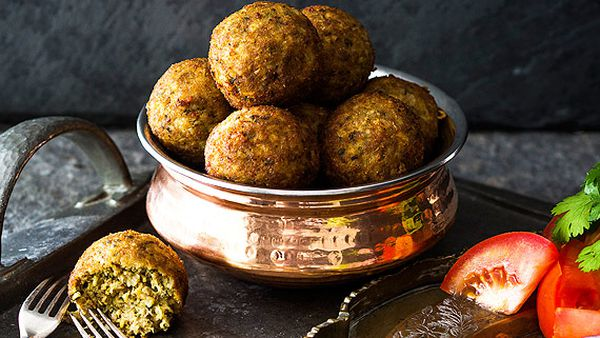 Grandma's kola urundai deep-fried southern Indian meatballs