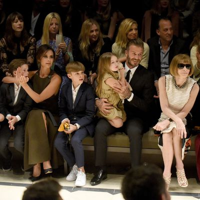 <p>Harper Beckham - future fashion mogul?</p>