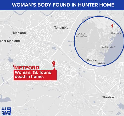 The woman's body was found in a Metford home. A man was arrested the scene.