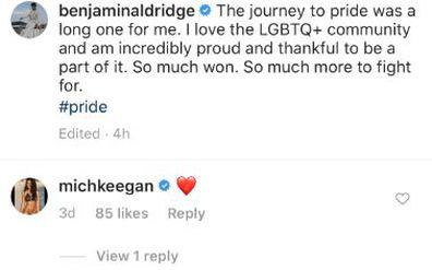 Ben Aldridge, Fleabag, comes out, gay, Instagram post