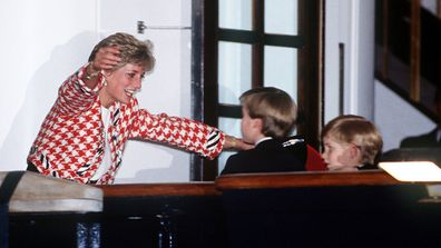 Diana with Will and Harry Canada