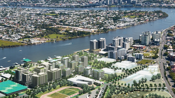 New artists impressions released today show what the Northshore Hamilton site will look like in 11 years' time, with the cities winning bid triggering $14 million in new roads, water and sewage for the area.
