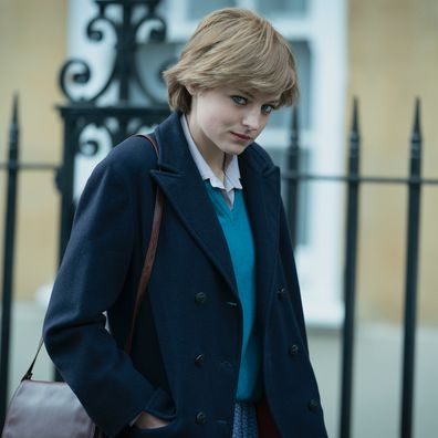 Emma Corrin as Lady Diana Spencer as seen on Netflix's The Crown Season 4.