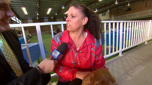 "Carol Buxton and Kenny the cocker spaniel performed to Michael Jackson's ""Beat It"". Picture: 9NEWS"