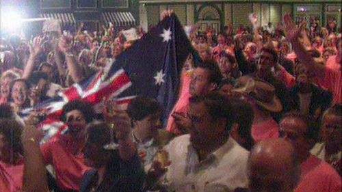 Over one hundred Australians were present in Monte Carlo to celebrate Sydney's win. (9NEWS)