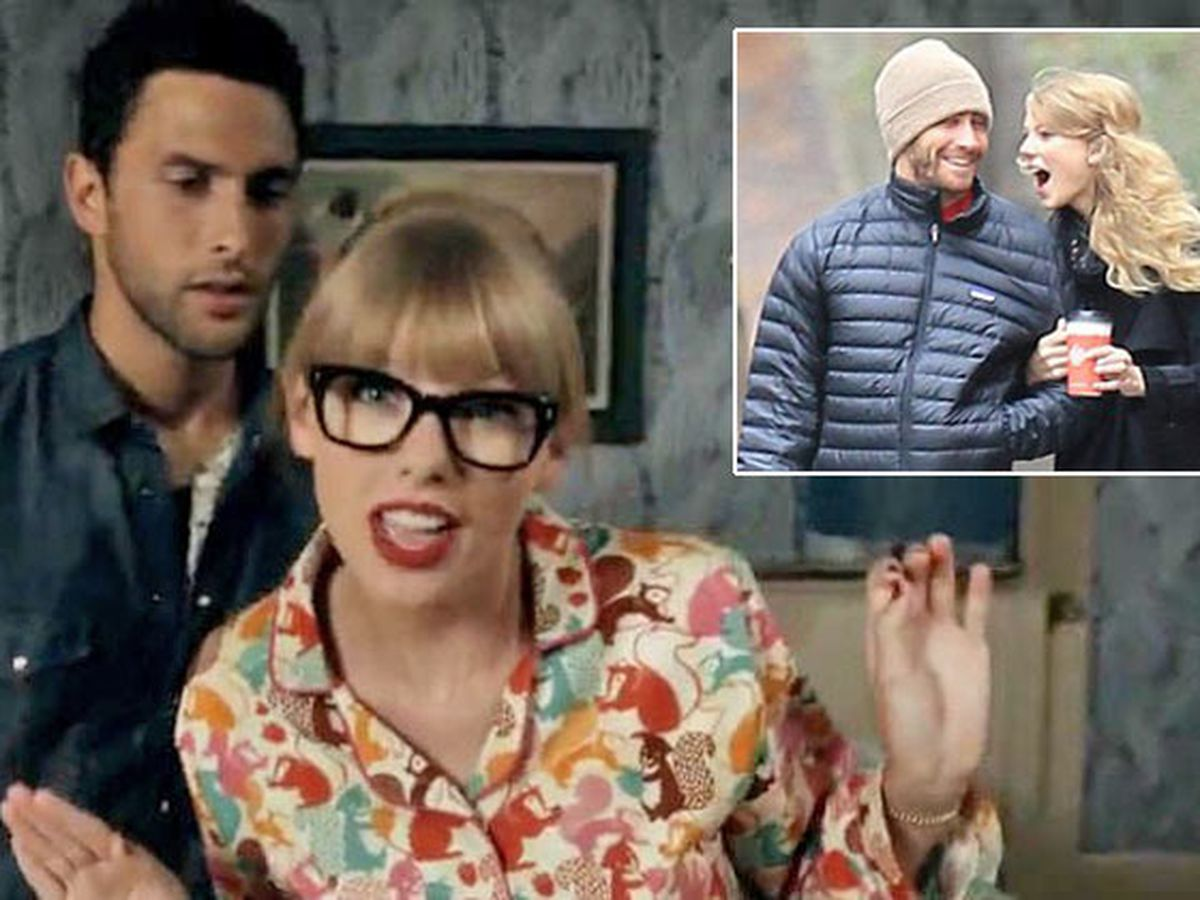 Watch Taylor Swift Disses Jake Gyllenhaal Lookalike In We Are Never Ever Getting Back Together Clip 9celebrity