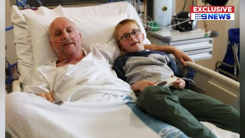 """Jeremy Mitchell was placed in a """"deep sleep"""" for seven days after his wife convinced him to go to hospital. (9NEWS Exclusive)"""