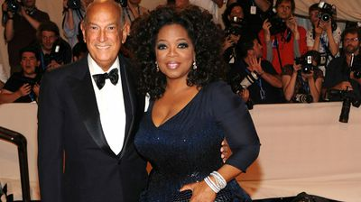 The designer with Oprah Winfrey at the 2010 Met Ball. (Getty)