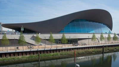 The Aquatic Centre used in the 2012 London Olympics.