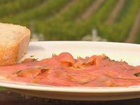 Cured Yarra Valley salmon in De Bortoli Riesling, dill and tarragon