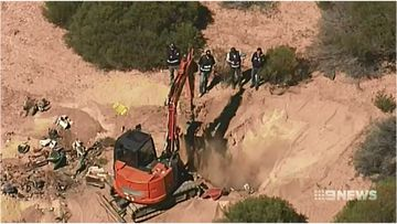 Police spent today scouring a property along South Australia's Murray River as part of an ongoing murder investigation.