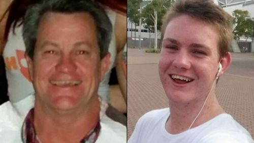 Adam Langford, 52, and his young nephew Jack died instantly when the truck barrelled into them, causing their car to erupt into flames. Picture: 9NEWS
