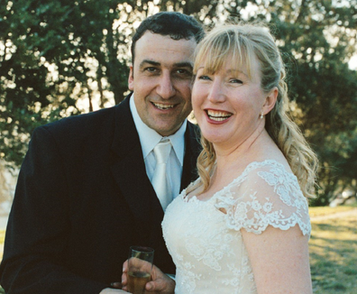 Donna and Jason on their wedding day.