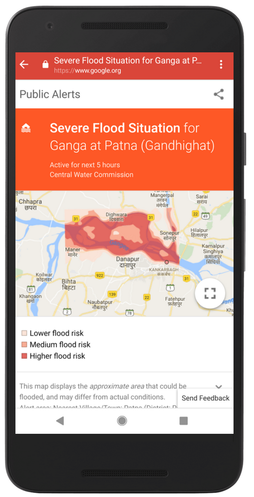 Google Maps users will receive an alert.