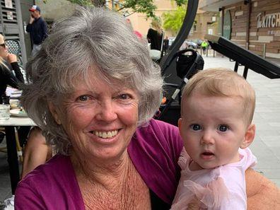 Karl Stefanovic, mother Jenny, meets granddaughter Harper, Instagram photo
