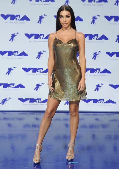 Chantel Jeffries in Joanna Laura Constanine at the MTV VMAs in LA on August 27.