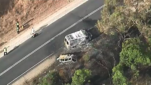 A man has been charged after a man and woman who were travelling in the SUV both died at the scene after a collision with a van on Lucindale Road yesterday.