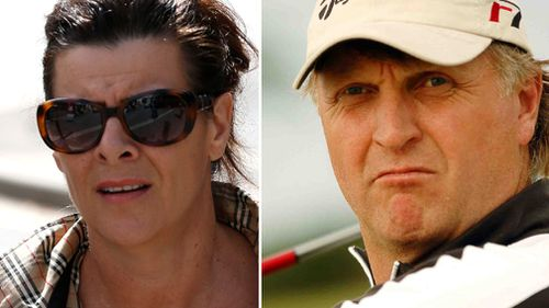 Linda Brooks outside the Brisbane court, and Neil Brooks in 2005. (AAP)