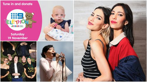 The Veronicas, Sheppard and Dami Im will all perform as part of tonight's Channel Nine Telethon in Brisbane. (AAP/9NEWS)