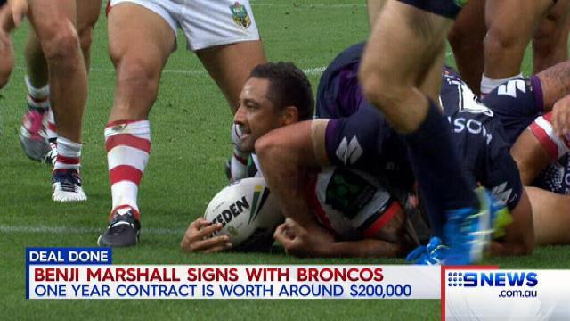 Benji Marshall signs with broncos