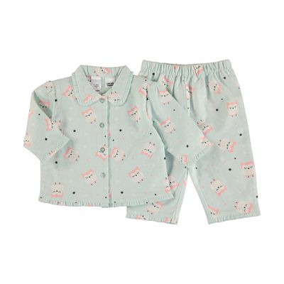 "<a href=""http://www.kmart.com.au/product/flannel-pyjama-set/1190324"" target=""_blank"">Kmart Baby Flannel PJ's set, $7.</a>"