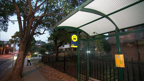 The man exited a bus some 20 minutes after the woman left Merrylands Train Station.