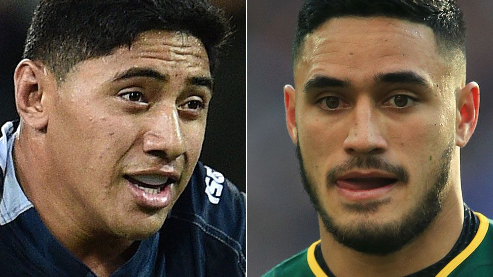 Jason Taumalolo and Valentine Holmes. (AAP)