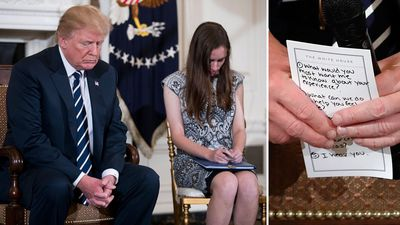 'I hear you': Trump's cue card in meeting with shooting survivors