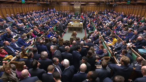 MPs in the House of Commons, London before the result of a Brexit deal.