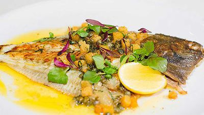 "<a href=""http://kitchen.nine.com.au/2016/05/05/11/21/neil-martins-whole-flounder-grenobloise"" target=""_top"">Neil Martin's whole flounder grenobloise</a> recipe"