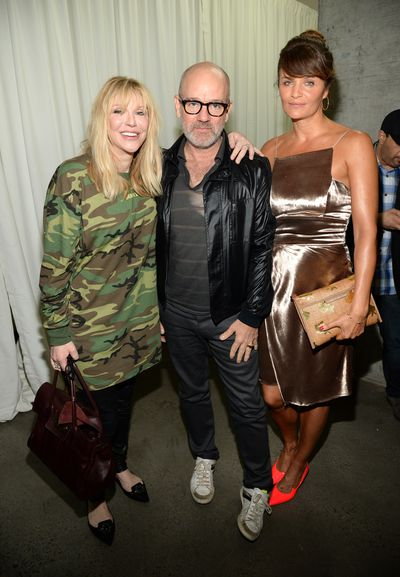 Courtney Love, Michael Stipe and Helena Christensen.